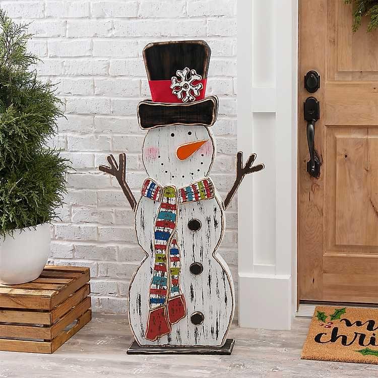 Christmas snowman decoration scarf