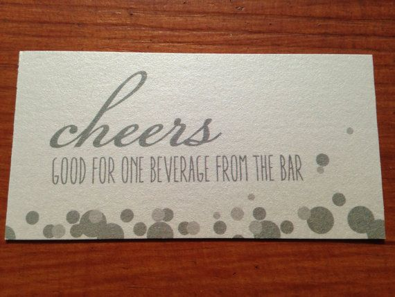 Drink Tickets Wedding, Special Event All Buttoned Up Paper - meal ticket template