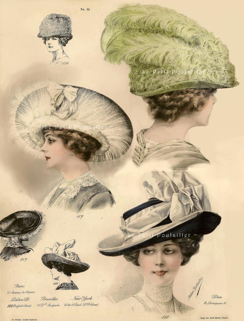 Hats Edwardian images