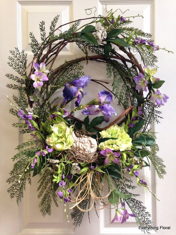 Hey, I found this really awesome Etsy listing at https://www.etsy.com/listing/185640282/spring-wreath-decor-door-wreath-easter
