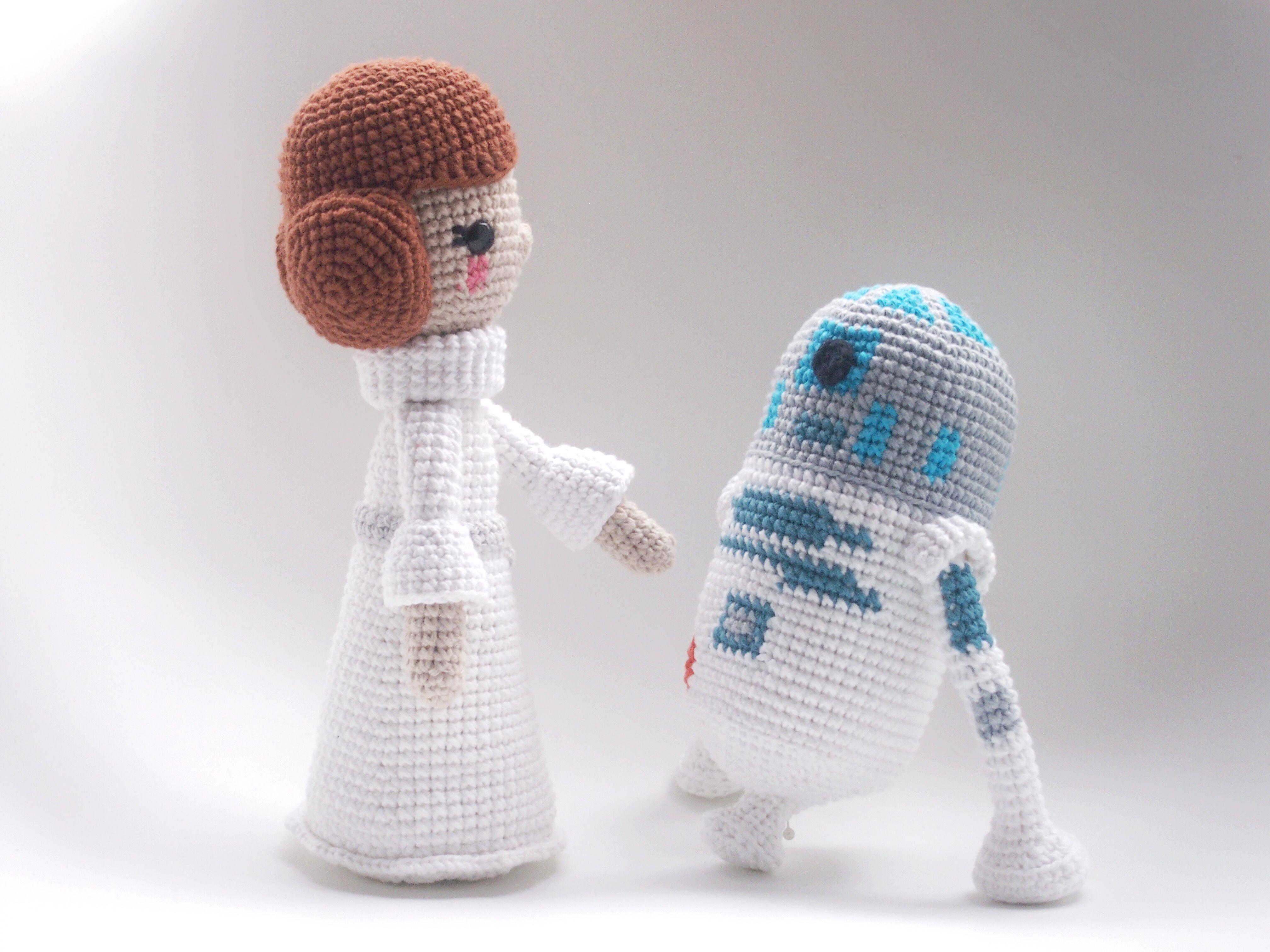 Princess Leia and R2D2 CROCHET DOLL PATTERN. | crochet | Pinterest