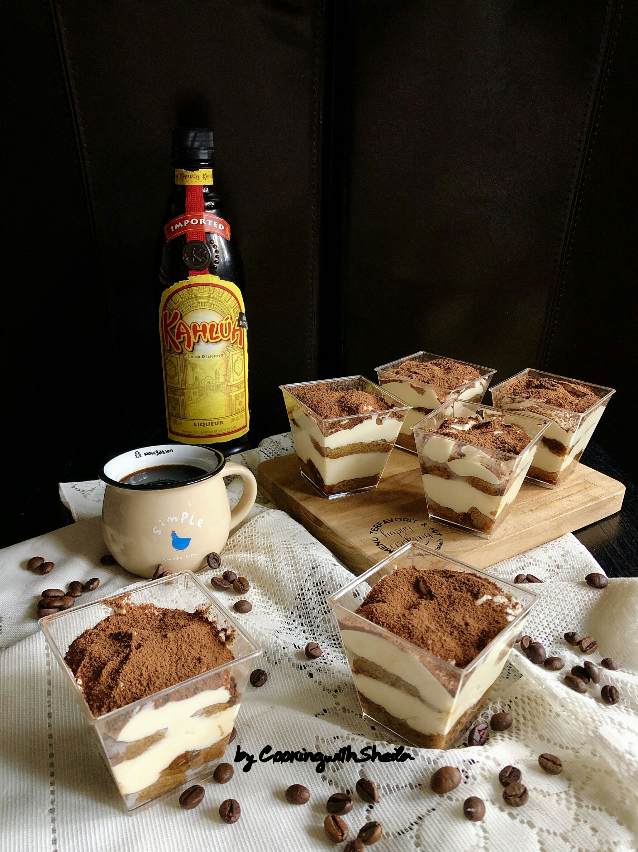 Tiramisu Dessert Box Makanan Penutup Mini Hidangan Penutup Makanan