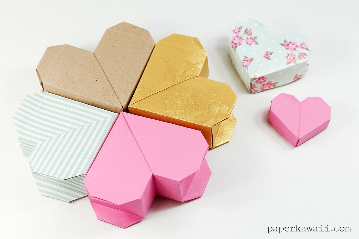 Learn How To Make A Pretty Origami Heart Box This Has Concealed Lid It Would The Perfect Gift At Valentines Or Birthdays For