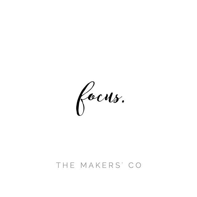 This. Always this.  You'll be amazed at how much more you can achieve. www.themakerscollective.com.au