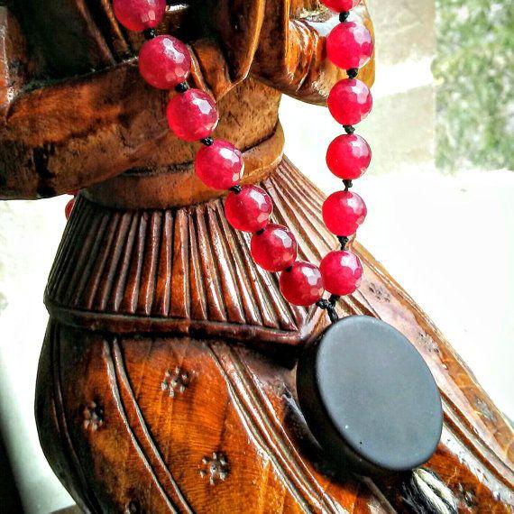 8 mm Round Red Jade Beads 0.80 Extra Strong Black Nylon Bead Cord Onyx Bead…  #mala #malabeads #108beadmala #jademala #gemstonemala #prayerbeads #pocketbeads #beadednecklace #beadedbracelet #jade #redjade #worrybeads #spirituality #yoga #yogaaccessories #yogi #yogijewelry #formeditation #handmadejewelry #etsy #etsyshop