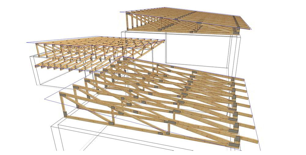 Flat roof build up google search outdoors pinterest Truss cost