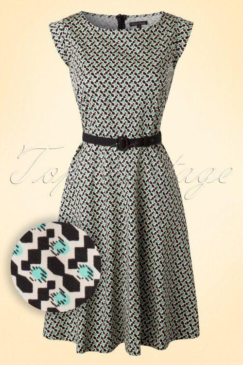 60s Betty Windsor Dress in Cream