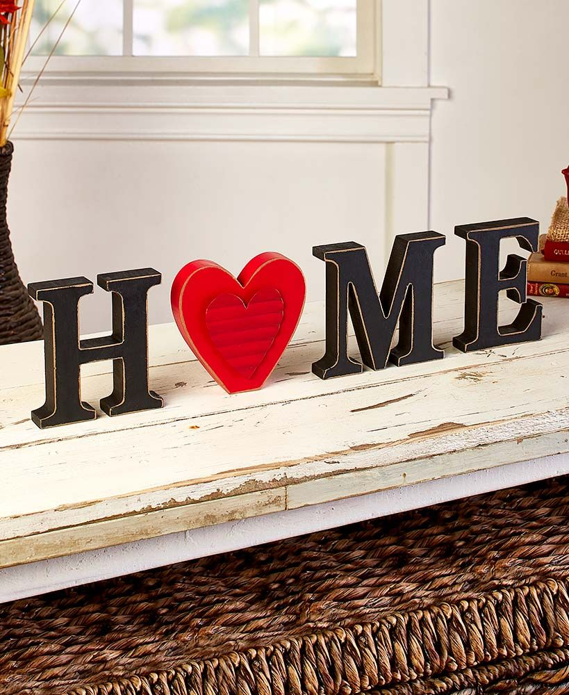 13Pc. Interchangeable Home Sentiment home signs
