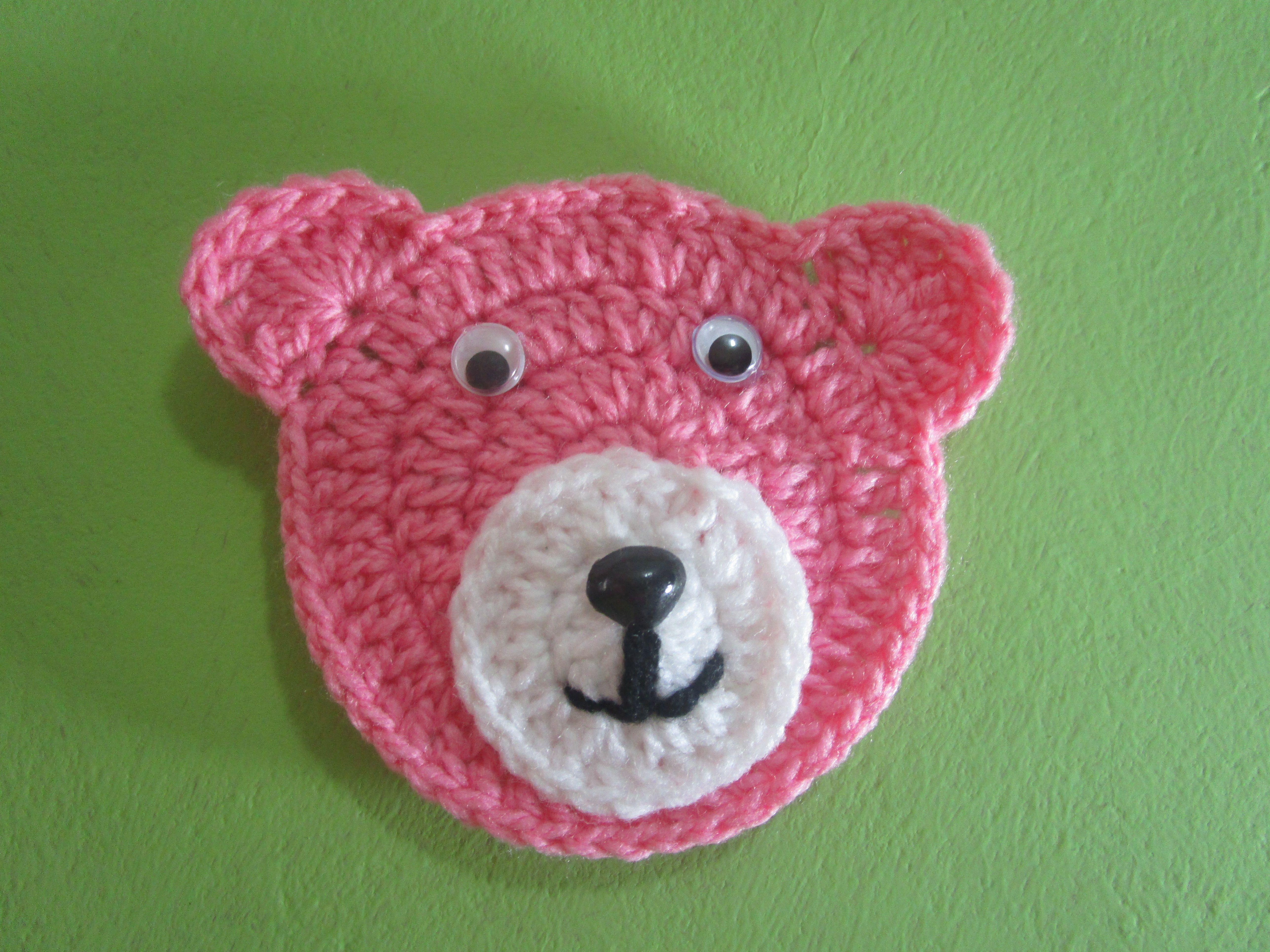 Cara De Osita Tejido a Crochet | APLICACIONES Modelos Variados ...