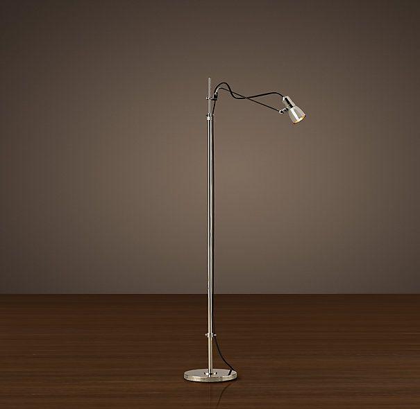 Vintage Sewing Task Floor Lamp Polished Nickel Task Floor Lamp Lamp Floor Lamp