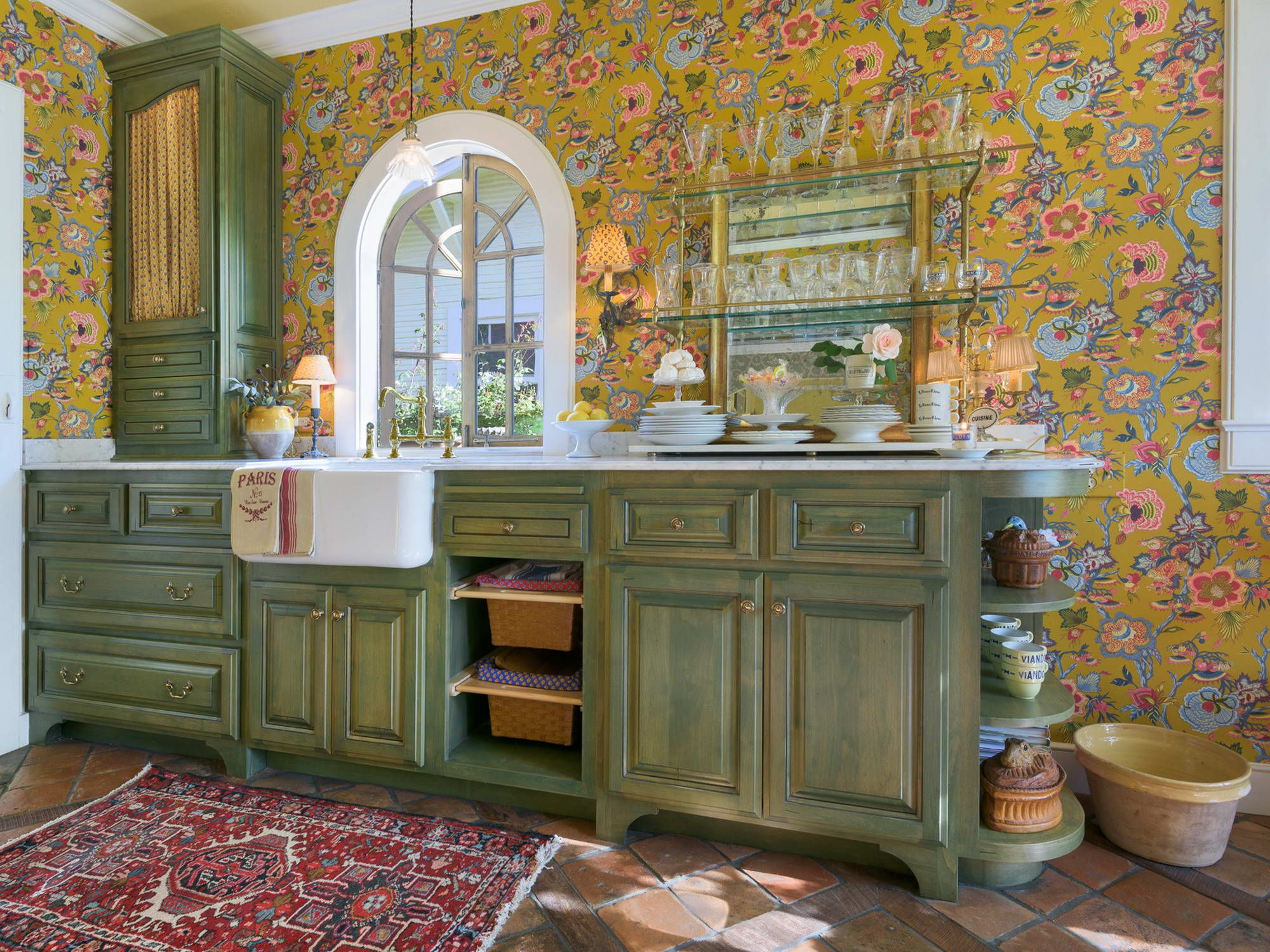 California kitchen remodel with upscale cabinetry and french california kitchen remodel with upscale cabinetry and french appliances including our reclaimed french terracotta floor and dailygadgetfo Choice Image