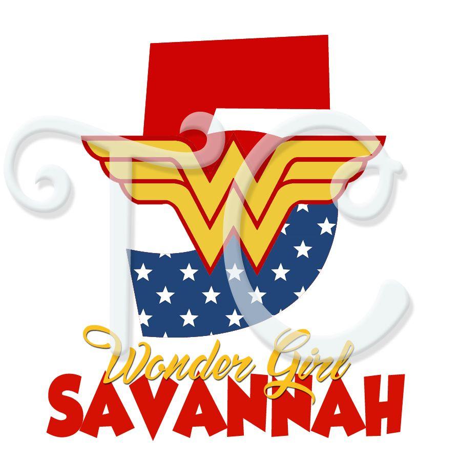NEW PERSONALIZED CUSTOM WONDER WOMAN T SHIRT DC GIRLS SUPERHERO ADD NAME