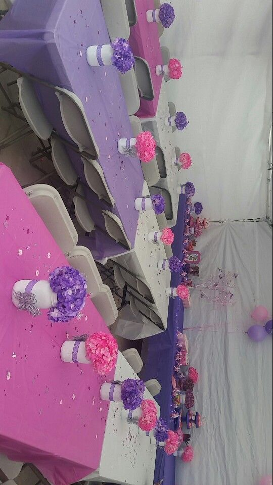 Babyshower Party Pink And Purple Butterfly Theme Decor Flowers