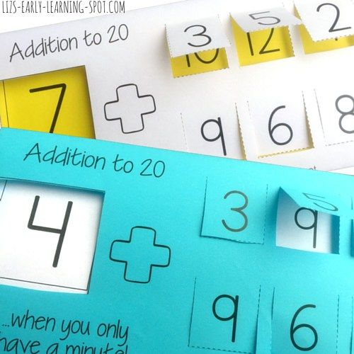 Free printable for practicing addition to 20. #Freebie ...