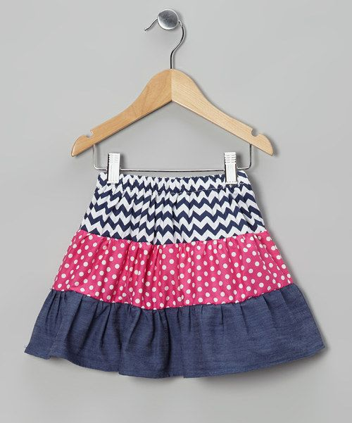 Pepped up with polka dots, zigzags and an elastic waistband, this energetic skirt teems with twirlability. CottonMachine washImported