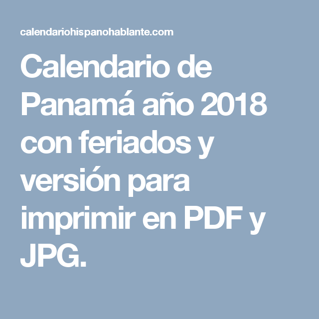 Calendario Escolar 2018 Panama.Pin De Silaba Mercadeo En Panama Calendario De Colombia