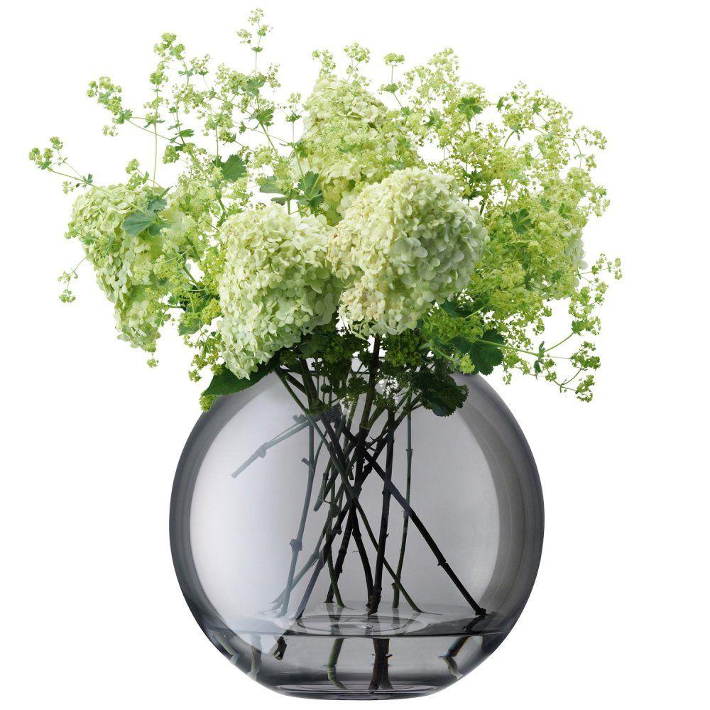 LSA International Spherical Polka Vase Sheer 24cm - Zinc