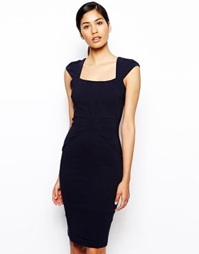 Vesper Valentina Pencil Dress with V Detail