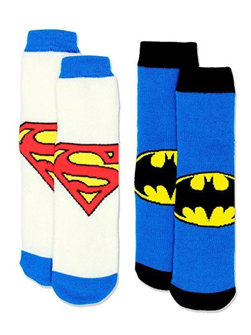 DC Comics Justice League 4-Pack Infant Socks 2T-3T Batman The Flash Superman NEW
