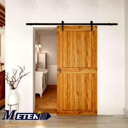 Interior puerta de madera correderas herrajes para puertas - Herrajes puertas correderas ...