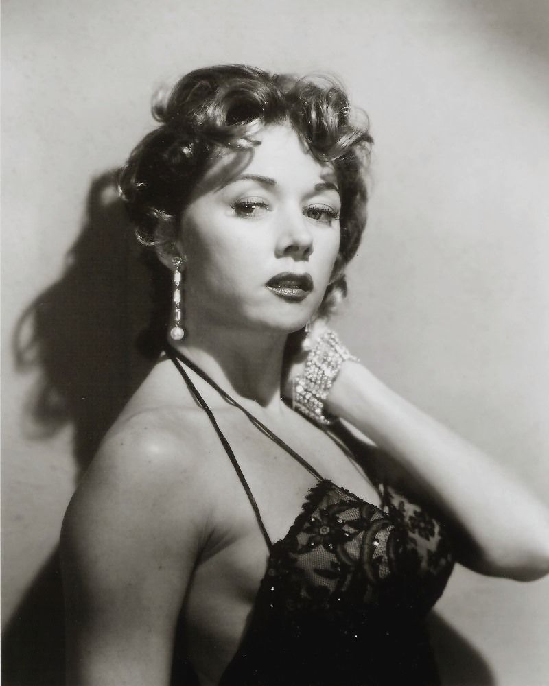 Gloria Grahame in a publicity photo for Naked Alibi (Jerry Hopper, 1954).  She plays - no surprise - a bad man's mistress.