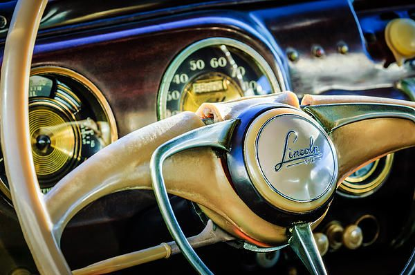 Lincoln Images By Jill Reger Images Of Lincolns 1941 Lincoln Continental Coupe Steering Wheel Embl Lincoln Continental Lincoln Cars Classic Car Photography