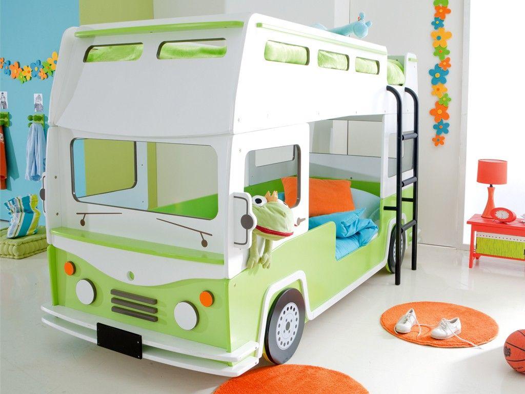 Cute loft bed ideas  VW Bus Bett  Kids playroom  Pinterest  Vw bus Kids rooms and