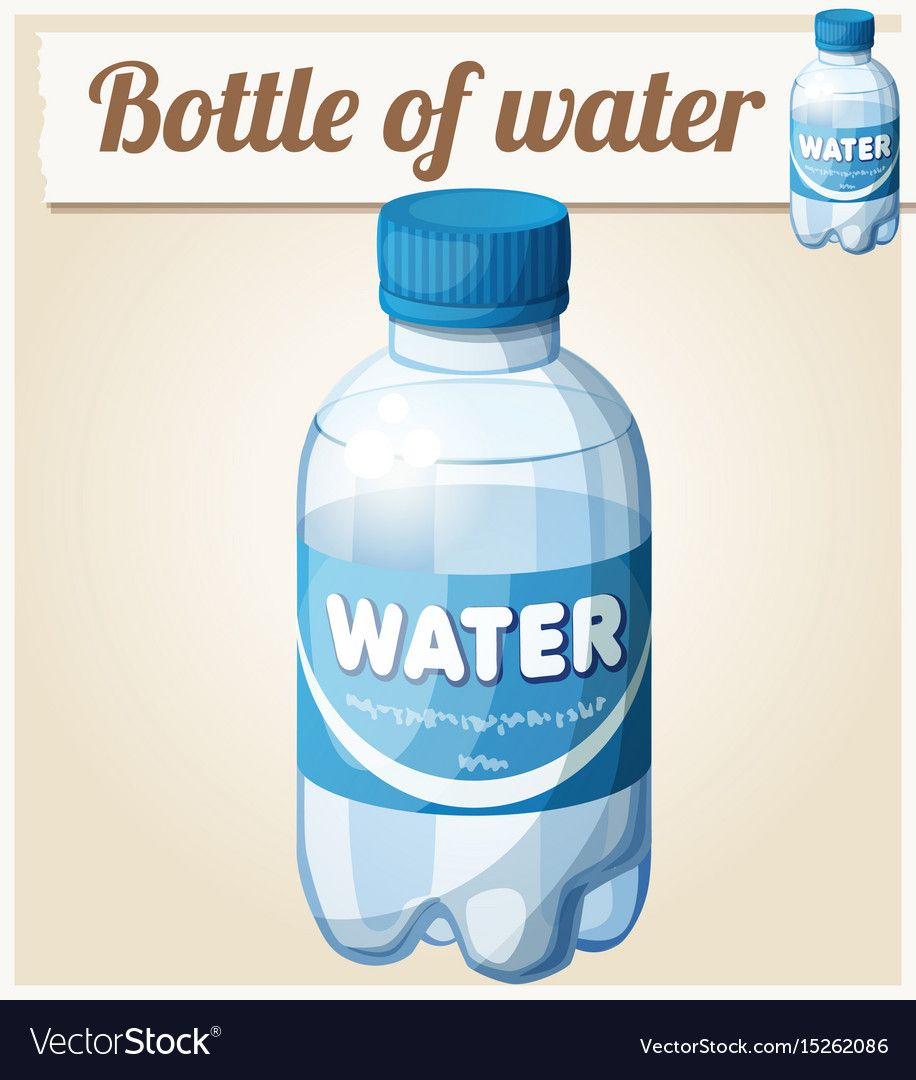 Bottle Of Water Cartoon Icon Royalty Free Vector Image Cartoon Icons Water Bottle Bottle
