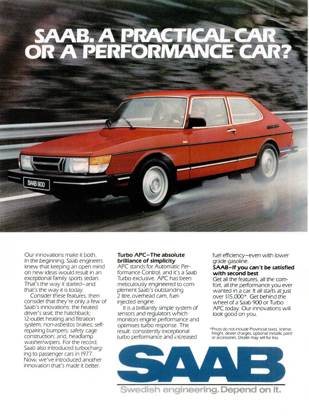 1984 Saab 900 Ad