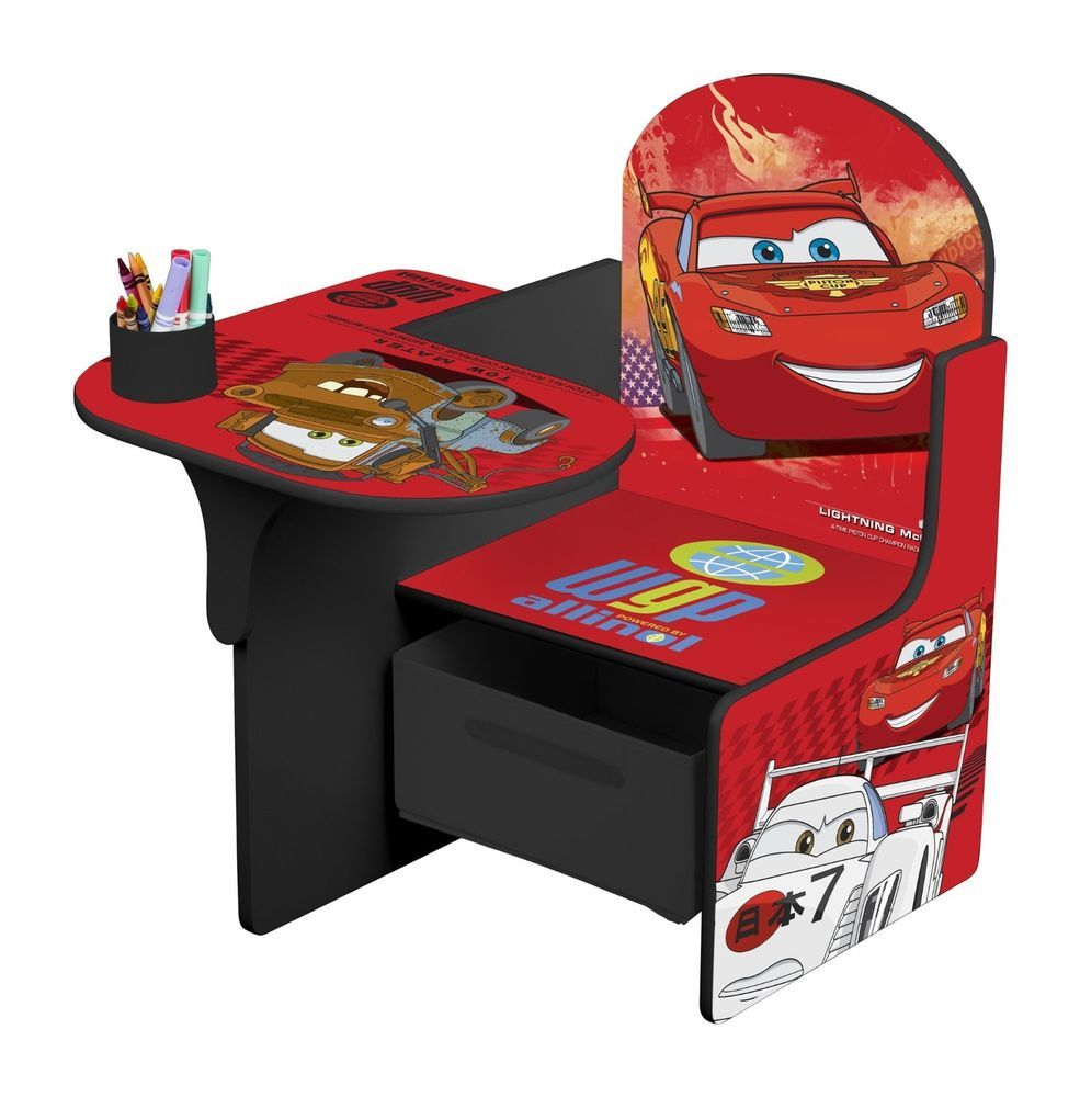 Disney Cars Childrens Kids Chair Desk Bedroom Play Room