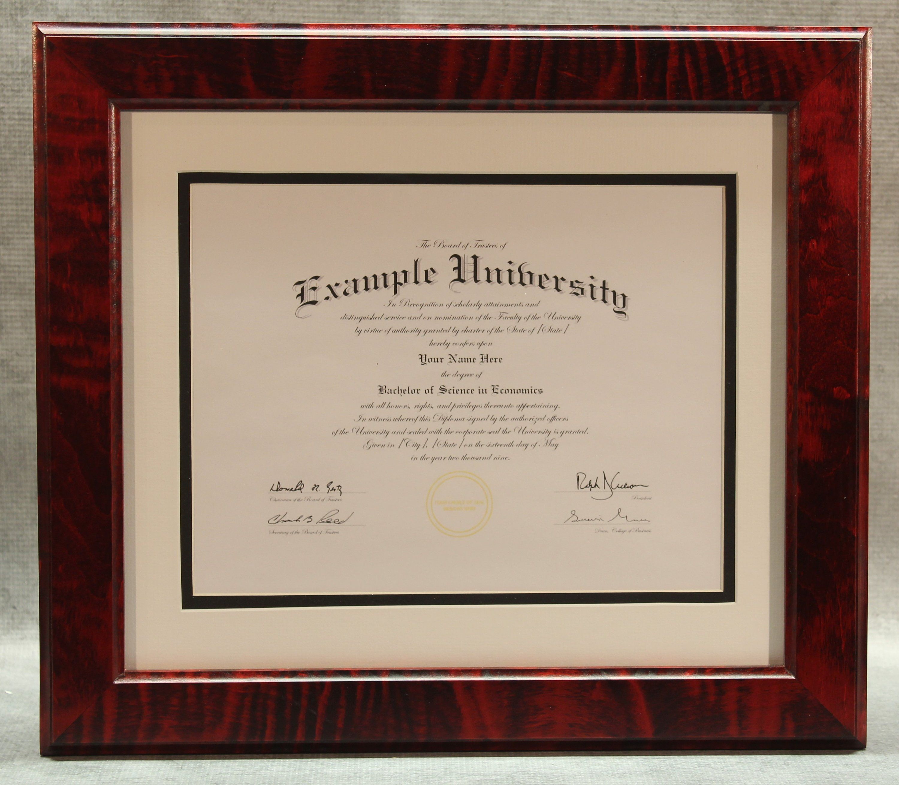 Diploma Frame 8 12 X 11 Remarkable Red Tiger Maple In 2018