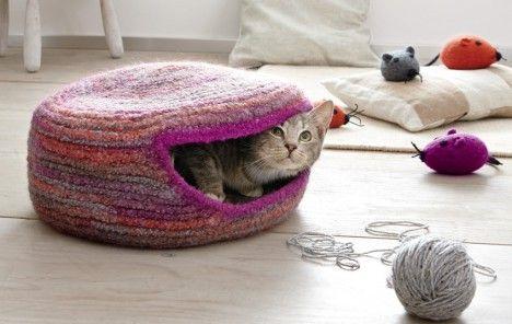 Katzenhöhle Häkeln: Warmes Winternest Fürs Kätzchen   IdeenMagazin   DAS  HAUS