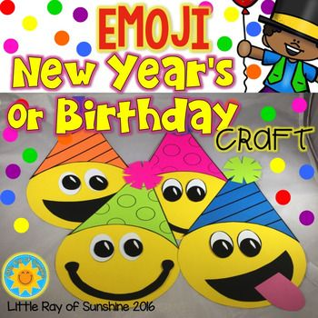 New Year S Or Birthday Emoji Craft Emoji Craft Lined Writing