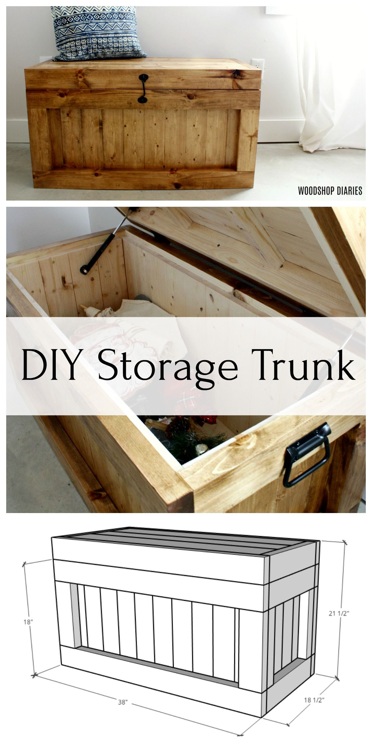 DIY Storage Trunk–FREE PLANS!