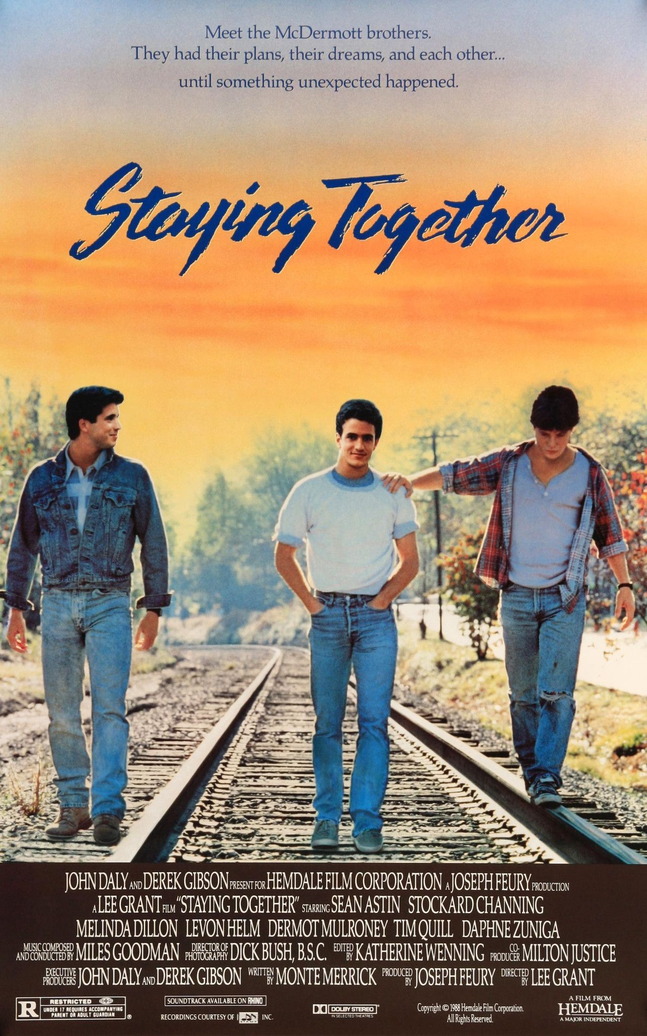 Staying Together (1989) Movie posters, Melinda dillon, Film