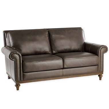 Chris Madden Lombard Leather Loveseat   Jcpenney · Living Room SofaLeather  ...