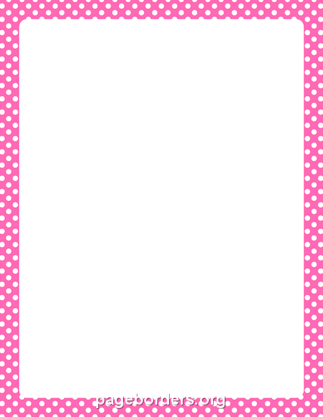 Hot Pink and White Polka Dot Border | Printable Ribbons, Frames ...