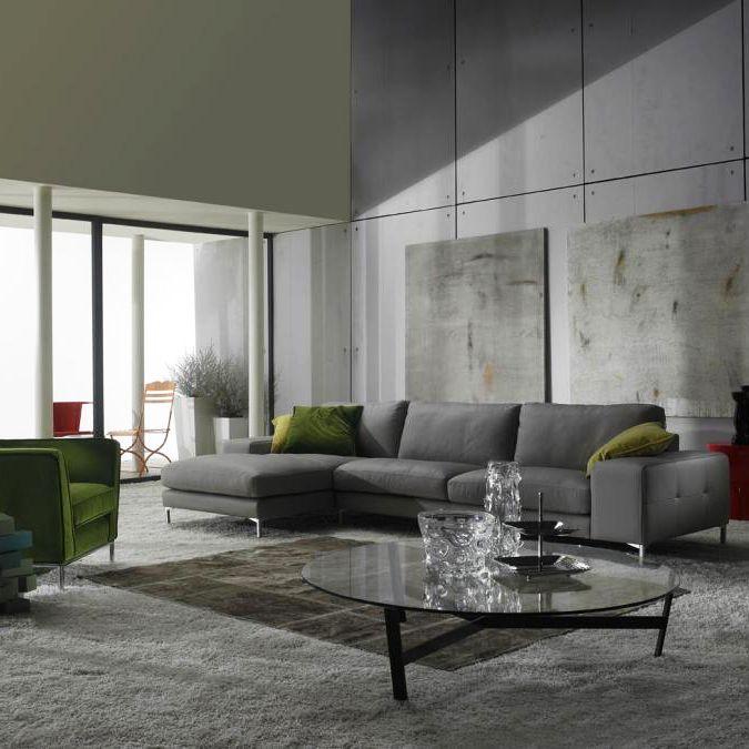 Corner Sofa Bed Contemporary: Living Room Furniture, Grey
