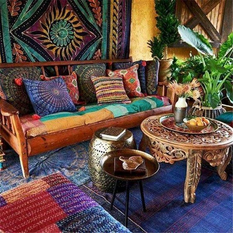 Comfy And Chic Bohemian Style Living Room Decor Ideas For You Bohemian Style Living Roo Modern Bohemian Living Room Boho Chic Living Room Bohemian Living Room