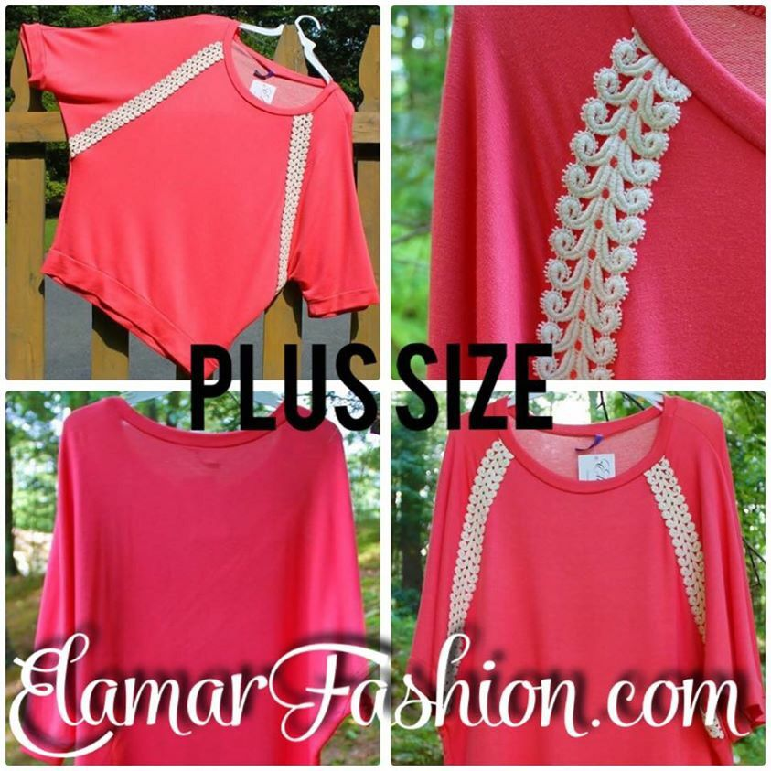 Gorgeous coral top in size XL-3XL can be yours now for only $16.72 when you use a coupon code LABORDAY20 to get 20% OFF total order!‼️ And SHIPPING is FREE❗️Offer ends on 9/9/15 Visit www.ElamarFashion.com