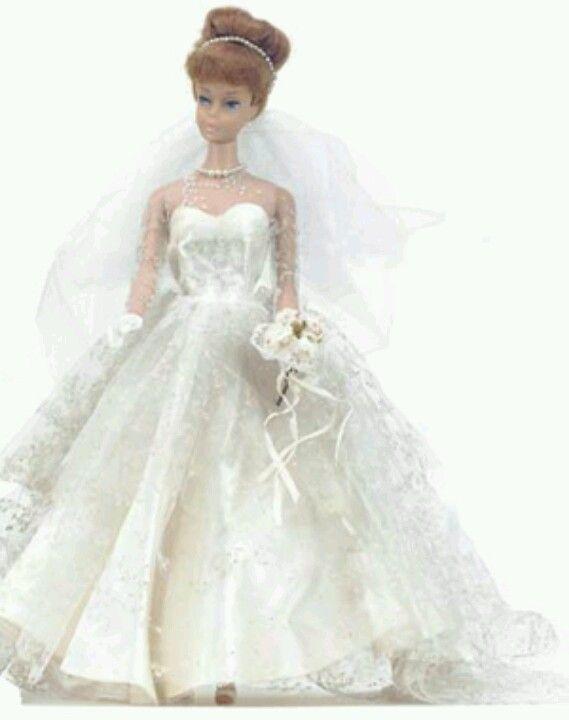 Vintage Barbie Wedding Dress 1971 Dolls Pinterest