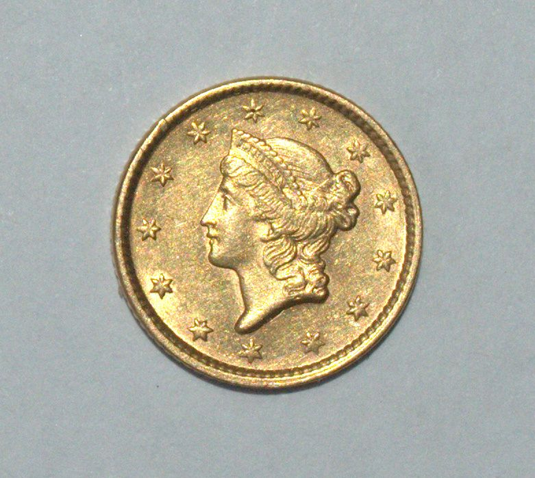 USA 1851 1$ Dollar Gold Coin Small Size Liberty KM# 73 | Gold Coins