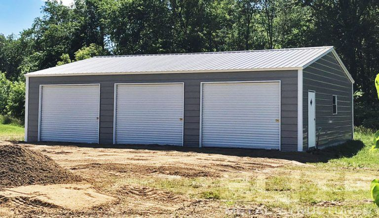 27 Partially Enclosed Carport With Lean To Elite Metal Structures In 2020 Metal Garage Buildings Metal Garages Enclosed Carport