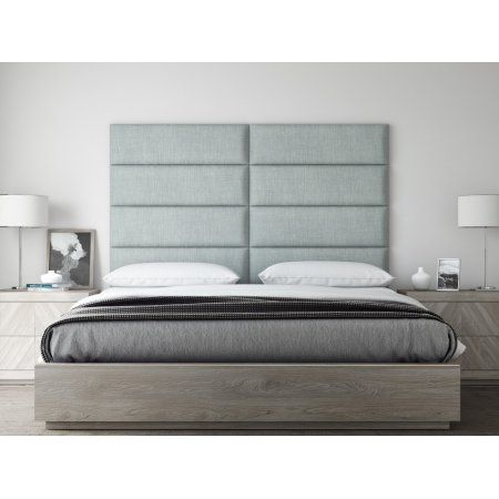 Vant Upholstered Headboards - Accent Wall Panels - Cotton Weave Ash