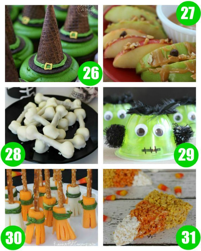 31 days of kids halloween food crafts - Kids At Halloween