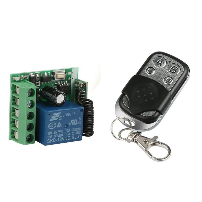 433mhz Universal Wireless Remote Control Switch Dc 12v 10a 1ch Relay Receiver Module And Rf Tran Electronic Accessories Wireless Transmitter Touch Light Switch