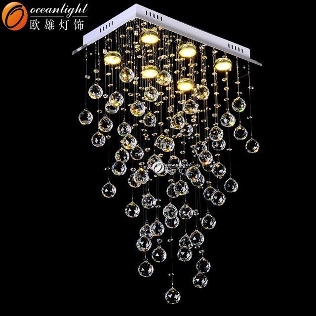 Moderne led lustre en cristal moderne k9 cristal lustre moderne