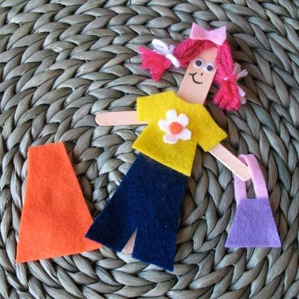 DIY for kids - Craft Stick Dress-Up Doll - complete ...
