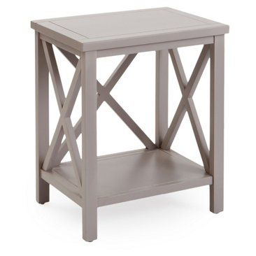 Check Out This Item At One Kings Lane Lucas Cross Back End Table Taupe End Tables Table Side Table