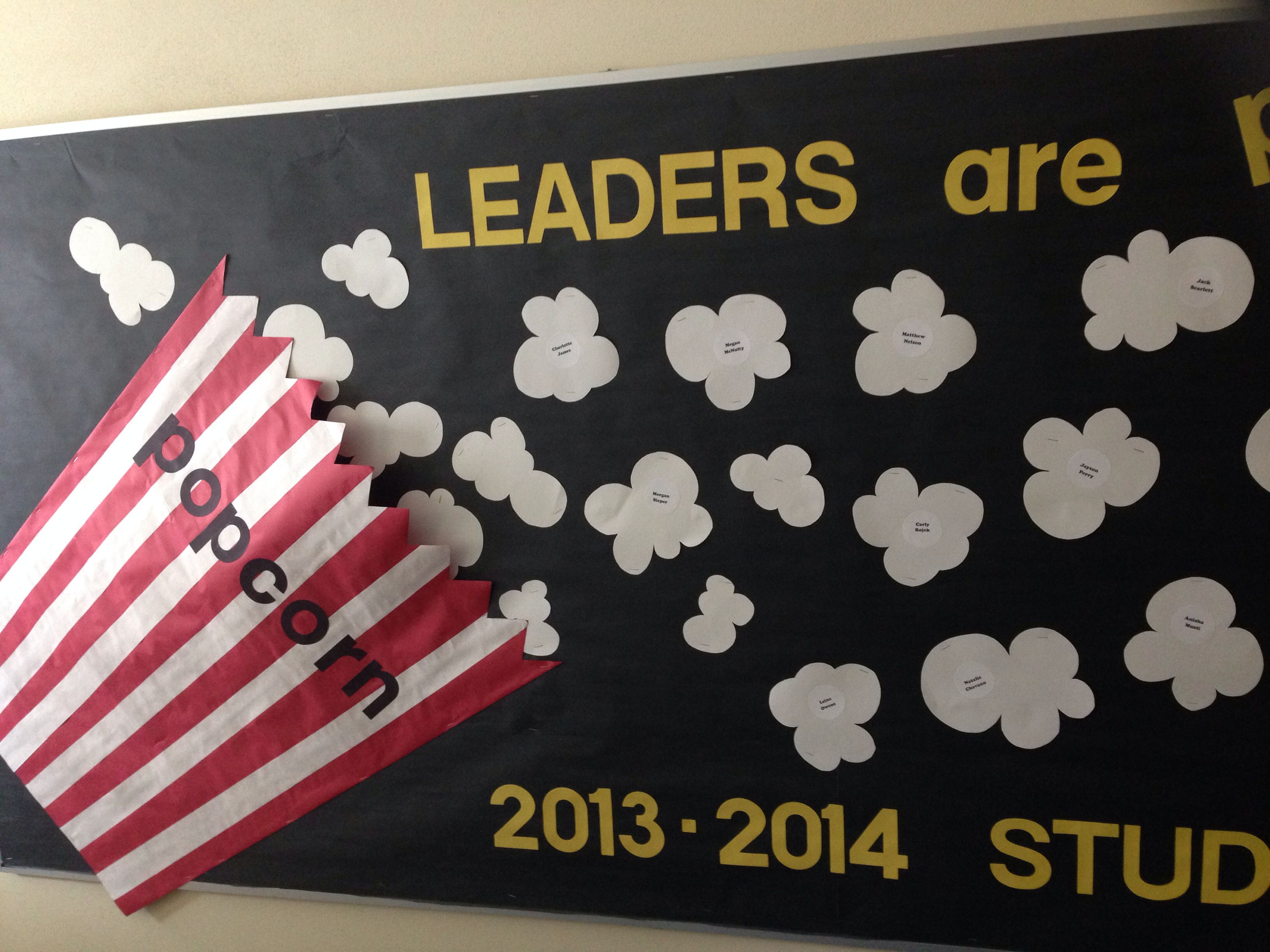student council display board at mary bryant elementary